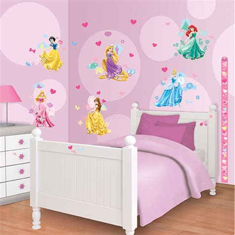 disney princess bedroom decor walltastic disney princess room decor kit 15173