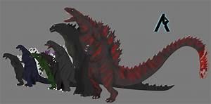 Godzilla size chart by TSURUGIKNIGHT on DeviantArt