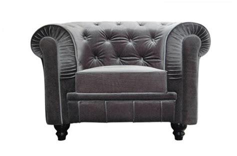 fauteuil chesterfield en velours gris color design en