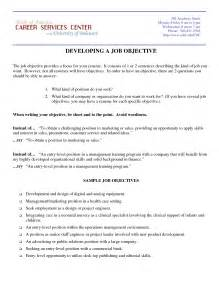 exle objectives for resume marketing resume objective sles resumes design