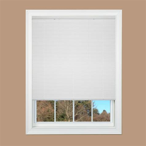 cordless vinyl mini blinds cut to width white cordless 1 in duplex vinyl mini blind