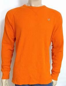 American Eagle Outfitters AEO Mens Orange Raglan Thermal ...