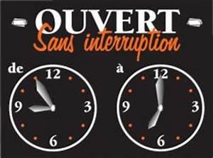 Horaire D Ouverture Gifi : panneau heures d 39 ouverture panneau horaire 2 cadrans ~ Dailycaller-alerts.com Idées de Décoration