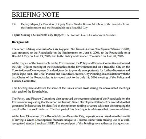 briefing note template   documents   psd