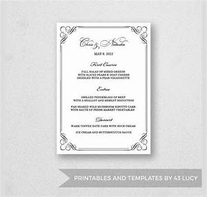 24 dinner party menus sample templates for Free menu templates for dinner party