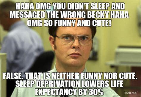Sleep Deprived Meme - joe martin fitness stress