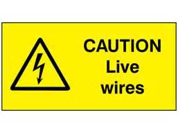 caution  wires label wsl label source