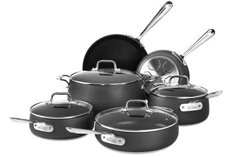 clad ha nonstick cookware set  piece cutlery