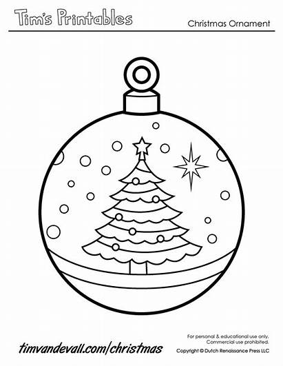 Ornament Christmas Printable Paper Ornaments Coloring Templates
