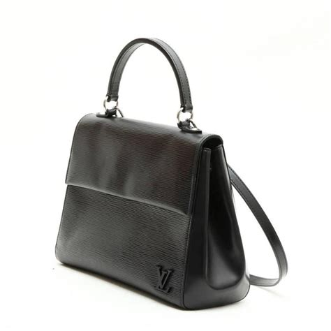 louis vuitton cluny mm bag  black epi leather  stdibs
