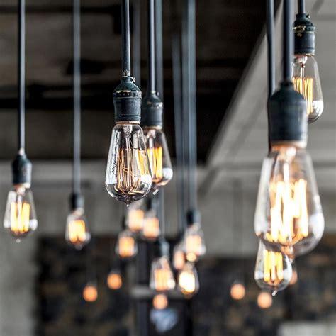 suspended shelf ideas vintage edison bulb with zig zag filament