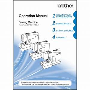 Instruction Manual  Brother Sq9185   Sewing Parts Online