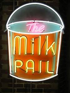 Update of classic vintage milk pail sign