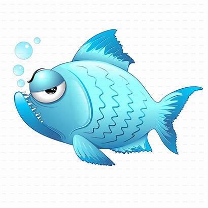 Fish Cartoon Grumpy Fishes Biology Marine Graphicriver