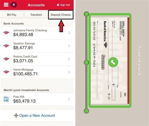 deposit checks by phone how to mobile deposit checks bank of america on iphone