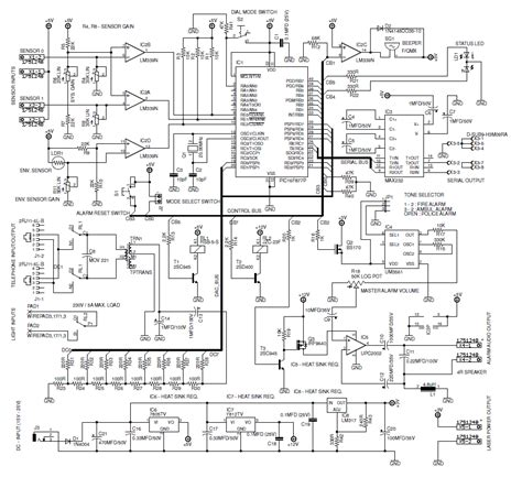 Security Wiring Schematic by Programmable Home Security Alarm System Electronics Lab
