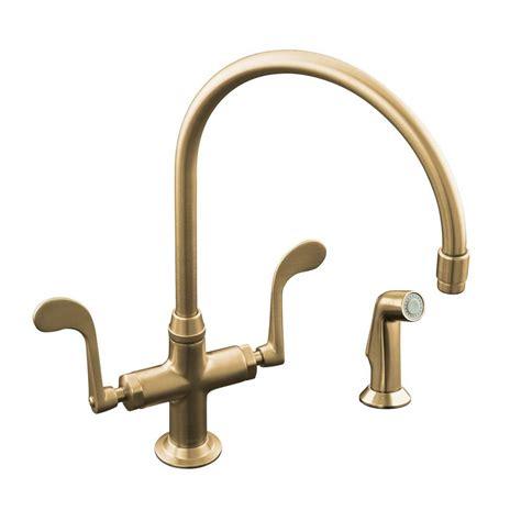 outdoor kitchen sink faucet kohler essex 2 handle standard kitchen faucet with side