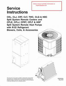 Goodman A  C Unit Service Instructions