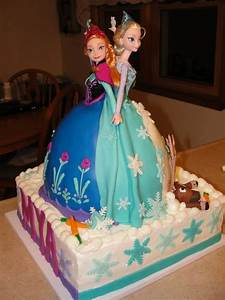 Elsa and Anna Frozen double doll cake by Sugar and ...