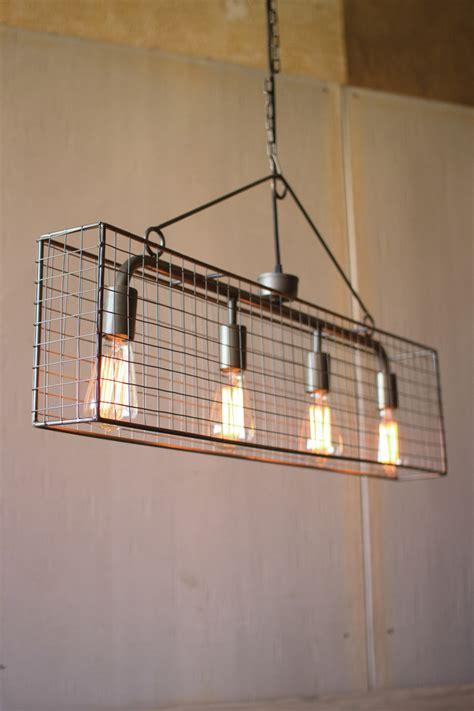 bulb wire mesh horizontal pendant light