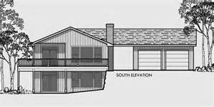 house plans with basement garage side sloping lot house plan walkout basement detached garage