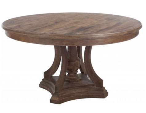 grande table ronde rustique bois jolipa
