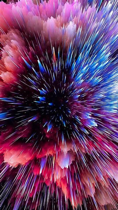 Space Bright Explosion Shards Background Samsung Edge