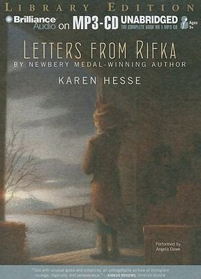 letters from rifka letters from rifka by hesse angela dawe reviews