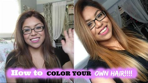 How To Color (dye) Your Own Hair!!