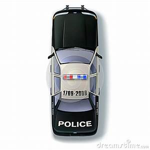 Police Car Top View Stock Illustration - Image: 61842886