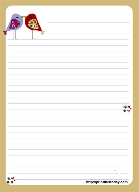 adorable love letter pad stationery design