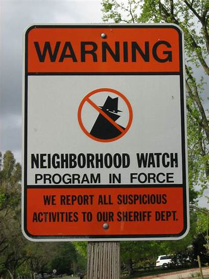 Neighborhood Sign Crime Signs Neighbourhood Volunteer Program