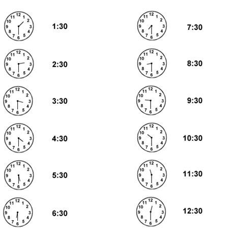 time clock  hour   printable worksheets