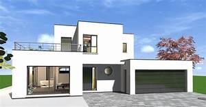 Maison Moderne Toit Plat : cuisine maison toit en pente toit plat toit terasse ~ Nature-et-papiers.com Idées de Décoration