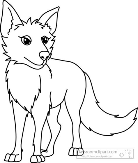 coyote clipart black and white animals coyote black white outline 914 classroom clipart