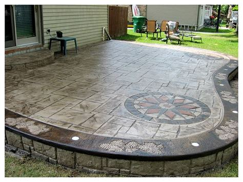 sted concrete patios with a design gardening