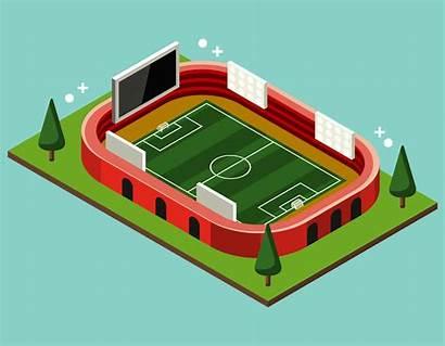 Stadium Vector Soccer Isometric Clipart Vecteezy Graphics