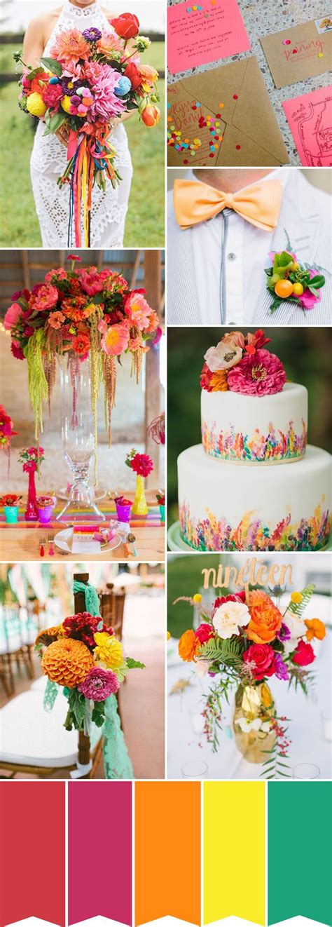 Simple Ideas To Create A Colourful Wedding Wedding Color