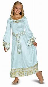 Maleficent - Aurora Deluxe Girls Blue Dress Costume ...