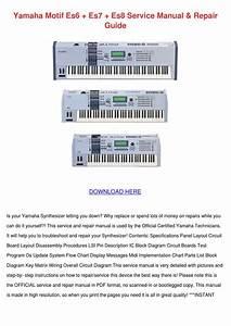 Yamaha Motif Es6 Es7 Es8 Service Manual Repai By Jenae