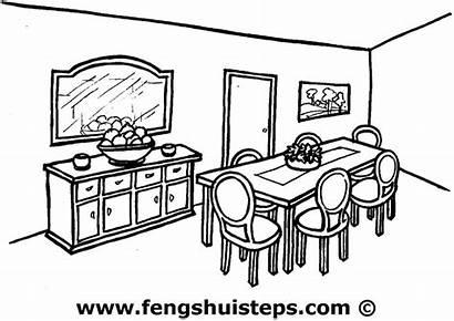 Dining Comedor Colorear Clipart Living Facile Dibujo