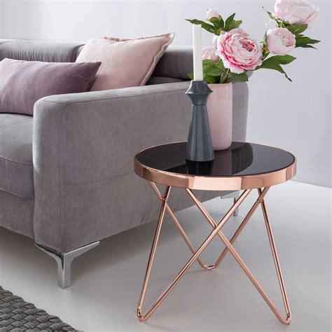 design couchtisch rund design couchtisch mini 248 42 cm rund glas kupfer lounge beistelltisch verspiegelt