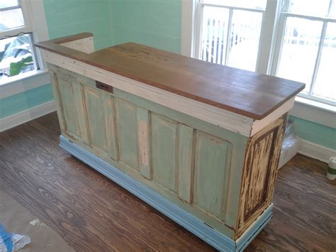 Antique Kitchen Island Table - custom bar island counter ta bay salvage