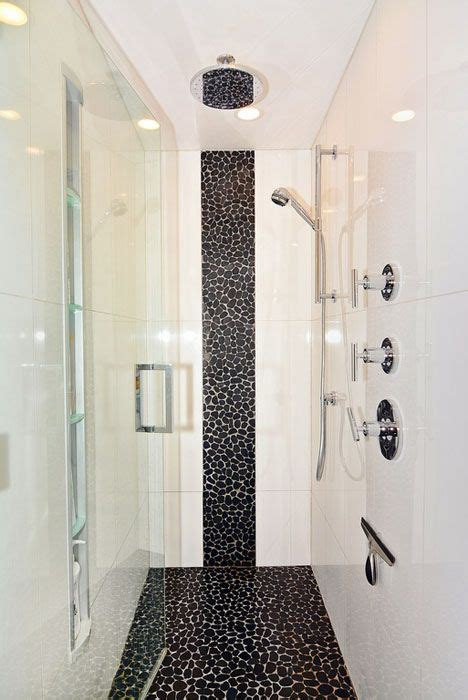 luxury walk  showers design ideas pebble shower