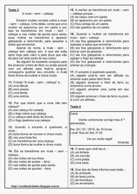 rosearts atividades para imprimir tati avalia 231 227 o de portugu 234 s prova de portugu 234 s e