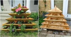DIY Vertical Garden Pyramid Planter BeesDIY com