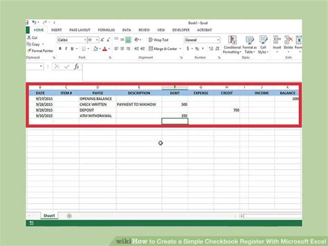 How To Create A Simple Checkbook Register With Microsoft Excel. Ventricular Signs. Twin Flame Signs. Typhoid Signs. Indicator Panel Signs. Member Exo Signs Of Stroke. Risk Factors Signs. Swollen Eye Signs. Mythology Signs