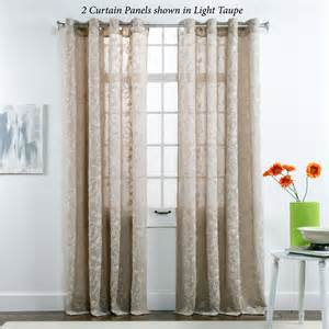 darcey floral semi sheer grommet curtain panels