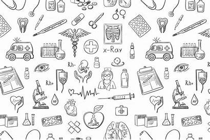 Medicine Pattern Draw Medical Hand Doctor Patterns