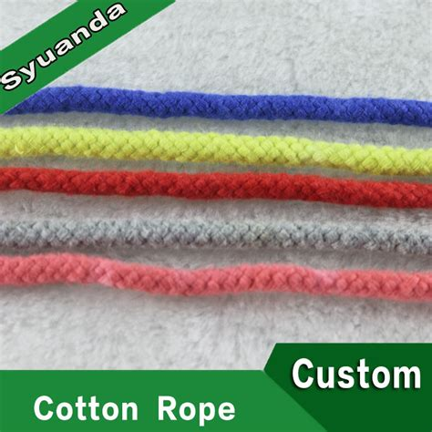 colored cotton rope manufacturer wholesale braided colored cotton rope